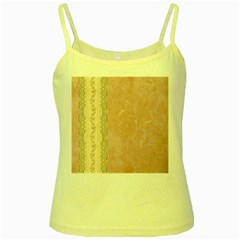 Guestbook Background Victorian Yellow Spaghetti Tank