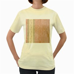 Guestbook Background Victorian Women s Yellow T-Shirt