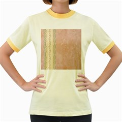Guestbook Background Victorian Women s Fitted Ringer T-Shirts