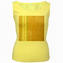 Guestbook Background Victorian Women s Yellow Tank Top