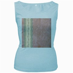 Guestbook Background Victorian Women s Baby Blue Tank Top