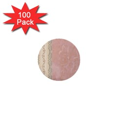 Guestbook Background Victorian 1  Mini Buttons (100 pack)