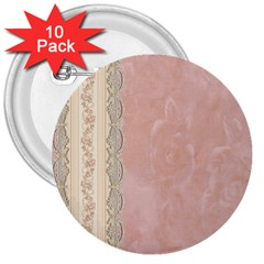 Guestbook Background Victorian 3  Buttons (10 pack)