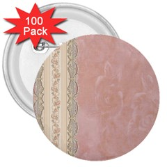 Guestbook Background Victorian 3  Buttons (100 pack)