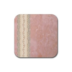 Guestbook Background Victorian Rubber Square Coaster (4 pack)