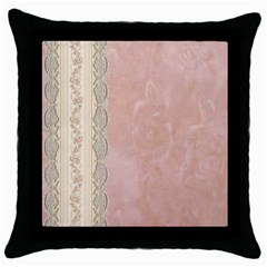Guestbook Background Victorian Throw Pillow Case (Black)