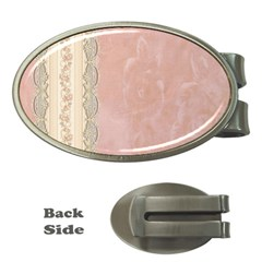 Guestbook Background Victorian Money Clips (Oval)