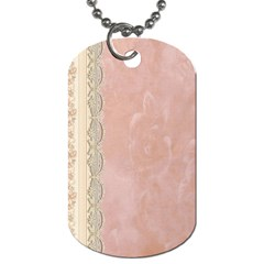 Guestbook Background Victorian Dog Tag (One Side)