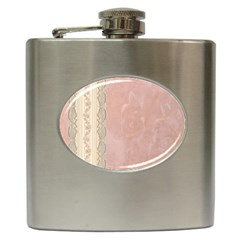 Guestbook Background Victorian Hip Flask (6 oz)