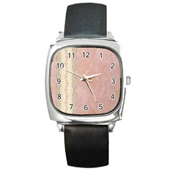 Guestbook Background Victorian Square Metal Watch