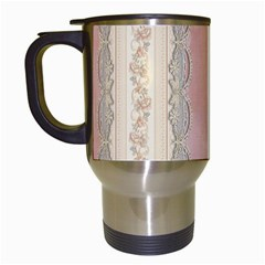 Guestbook Background Victorian Travel Mugs (White)