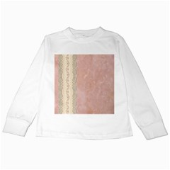Guestbook Background Victorian Kids Long Sleeve T-Shirts