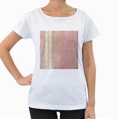 Guestbook Background Victorian Women s Loose-Fit T-Shirt (White)