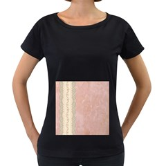 Guestbook Background Victorian Women s Loose-Fit T-Shirt (Black)