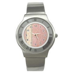 Guestbook Background Victorian Stainless Steel Watch