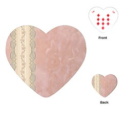 Guestbook Background Victorian Playing Cards (Heart)