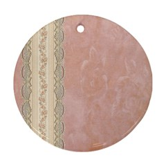 Guestbook Background Victorian Round Ornament (Two Sides)