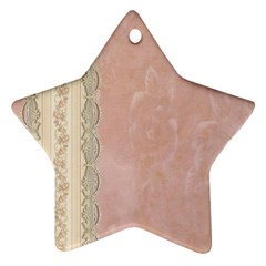 Guestbook Background Victorian Star Ornament (Two Sides)