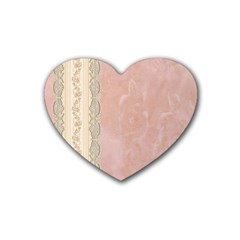 Guestbook Background Victorian Rubber Coaster (Heart)