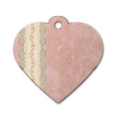 Guestbook Background Victorian Dog Tag Heart (One Side)