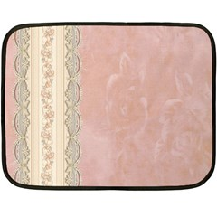 Guestbook Background Victorian Double Sided Fleece Blanket (Mini)
