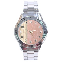 Guestbook Background Victorian Stainless Steel Analogue Watch