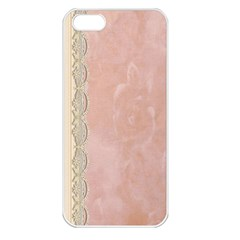 Guestbook Background Victorian Apple iPhone 5 Seamless Case (White)