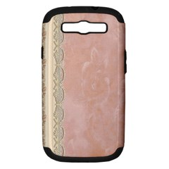 Guestbook Background Victorian Samsung Galaxy S III Hardshell Case (PC+Silicone)