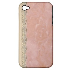 Guestbook Background Victorian Apple iPhone 4/4S Hardshell Case (PC+Silicone)