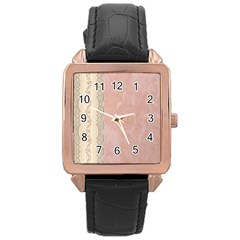 Guestbook Background Victorian Rose Gold Leather Watch
