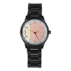Guestbook Background Victorian Stainless Steel Round Watch