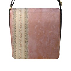 Guestbook Background Victorian Flap Messenger Bag (L)