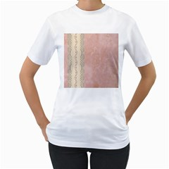 Guestbook Background Victorian Women s T-Shirt (White)