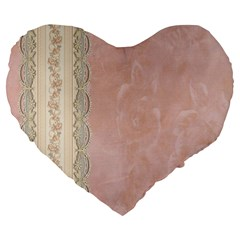Guestbook Background Victorian Large 19  Premium Flano Heart Shape Cushions