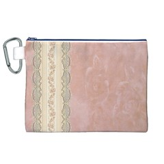 Guestbook Background Victorian Canvas Cosmetic Bag (XL)