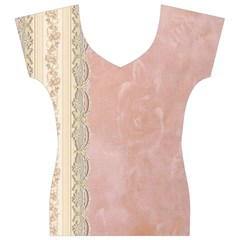 Guestbook Background Victorian Women s V-Neck Cap Sleeve Top