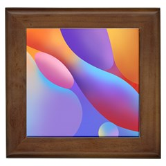 Color Orange Copy Framed Tiles
