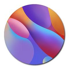 Color Orange Copy Round Mousepads