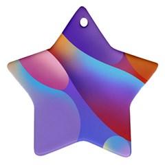 Color Orange Copy Ornament (Star)