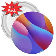 Color Orange Copy 3  Buttons (100 pack)