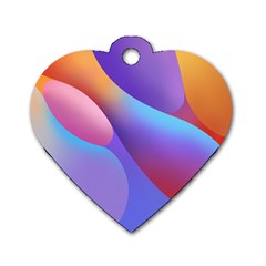 Color Orange Copy Dog Tag Heart (One Side)