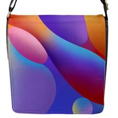 Color Orange Copy Flap Messenger Bag (S)