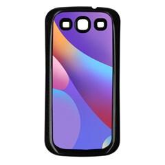 Color Orange Copy Samsung Galaxy S3 Back Case (Black)