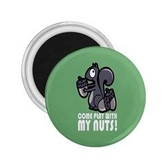 Pet Squirrel Green Nuts 2.25  Magnets