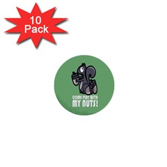 Pet Squirrel Green Nuts 1  Mini Buttons (10 pack)