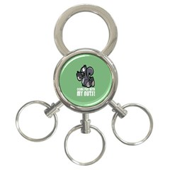 Pet Squirrel Green Nuts 3-Ring Key Chains