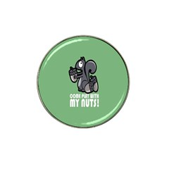 Pet Squirrel Green Nuts Hat Clip Ball Marker (10 pack)