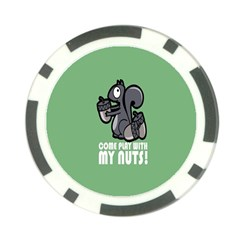 Pet Squirrel Green Nuts Poker Chip Card Guards