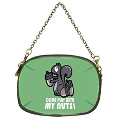 Pet Squirrel Green Nuts Chain Purses (One Side)