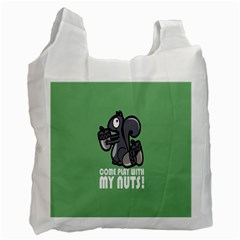 Pet Squirrel Green Nuts Recycle Bag (Two Side)